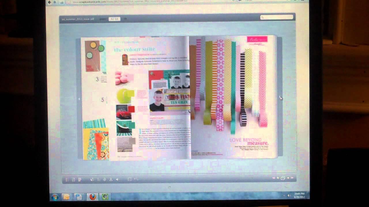 Scrapbooking Ideas Free Online Scrapbook Magazine Youtube