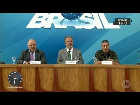 Governo recua após polêmicas sobre mandados coletivos no Rio   SBT Notícias (21/02/18)