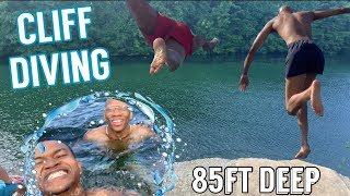 CLIFF DIVING INTO 85FT DEEP LAKE (NELSON LEDGES)