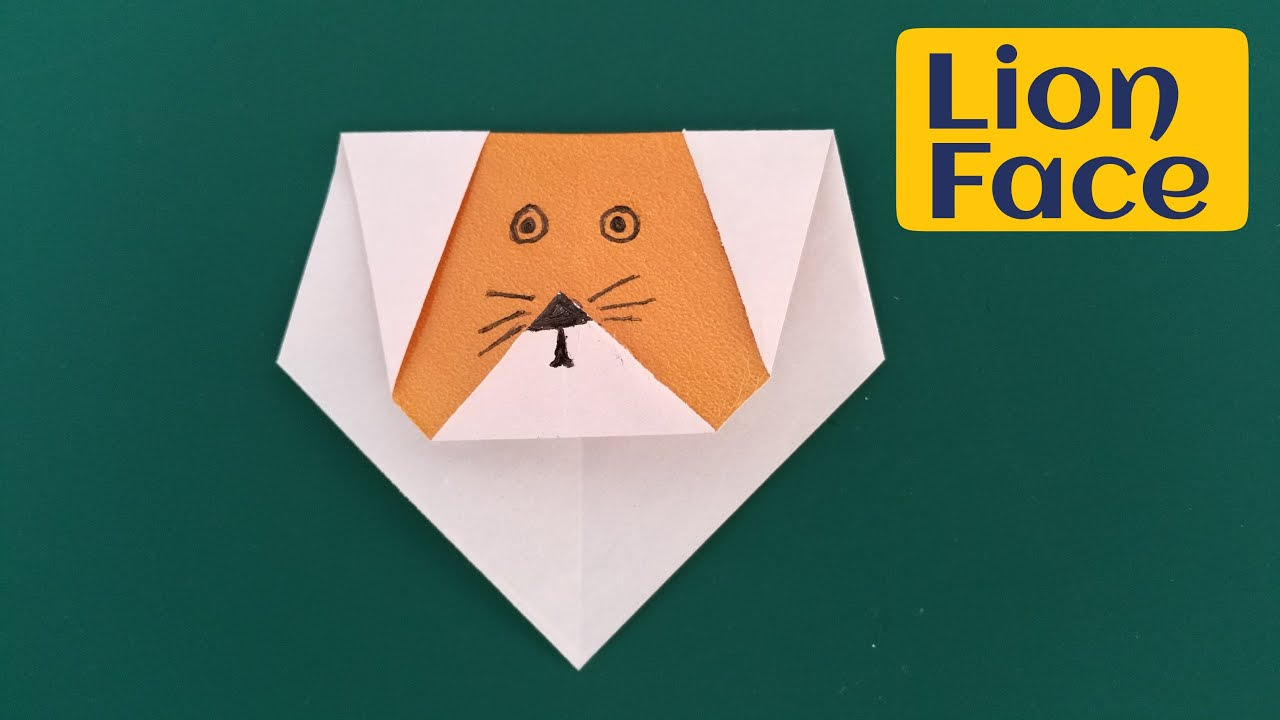 How To Make A Super Easy Paper Lion Face
