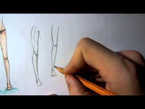 видео: Пару слов. Как рисовать ноги