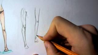 Пару слов. Как рисовать ноги