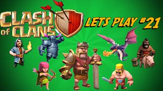 Clash of Clans : Let's Play Episode 21 - Max Town Hall 7 + Dual Commentary