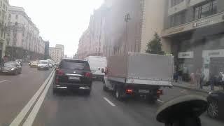 Пожар улица Тверская город Москва