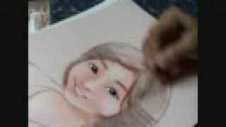 パステルを使った似顔絵です。 主線はコンテ色鉛筆を使用 ○LYRA社の...