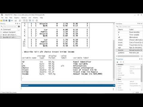 Panel-data mixed logit | New in Stata 16