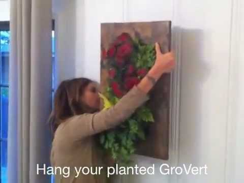 DIY   Lisi Makes Her Own GroVert Designer Living Wall Planter