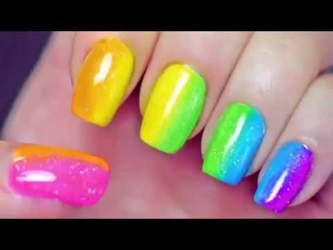 маникюр цветной разными лаками быстро накрасить красиво ногти