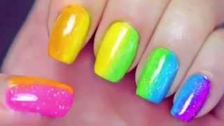 маникюр цветной разными лаками быстро накрасить красиво ногти(Маникюр (от лат. manus — рука и cura — уход) — косметическая процедура по обработке ногтей на пальцах рук и самих..., 2015-01-06T14:39:22.000Z)