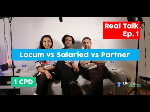 Should I be a LOCUM, SALARIED or GP PARTNER? (UK)// Careers Advice (in 4K!) // Real Talk // Ep.1