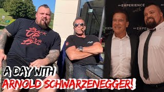 spending the day with ARNOLD SCHWARZENEGGER!