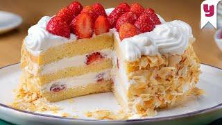 İster Doğum Günü Kutlamalarına İster Çayın Kahvenin Yanına: Tam Ölçülü Kremalı Çilekli Pasta Tarifi