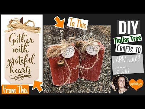 DIY Dollar Tree Rustic Farmhouse Pumpkin | DIY Fall Decor | faythchik777's DIY by Design