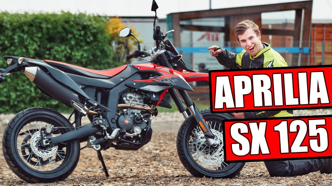 aprilia sx 125ccm supermoto 2019 motorrad test youtube. Black Bedroom Furniture Sets. Home Design Ideas