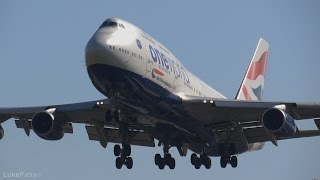 British Airways 747-400 'One World' G-CIVI Landing
