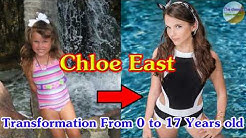 Chloe East transformation from 0 to 17 years old