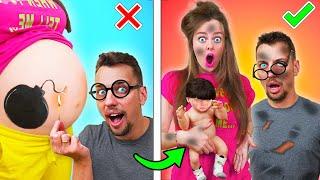 Я БЕРЕМЕННА! 13 ЛАЙФХАКОВ и Смешных Ситуаций c БЕРЕМЕННЫМИ! Готовимся стать родителями