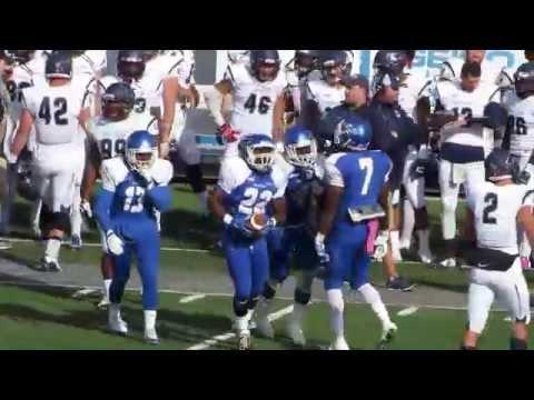 CCSU Defense with 5 Interceptions vs Robert Morris Colonials - Football Video - October 31, 2015