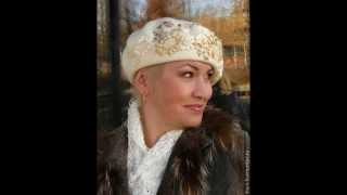 БЕРЕТЫ (вышивка бисером и лентами). Мастер Валентина Власова