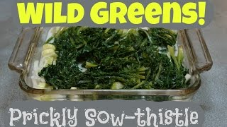 Cooking Prickly Sow Thistle: Poached Fish Casserole