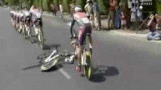 Tour de France 2009 moment not to remember