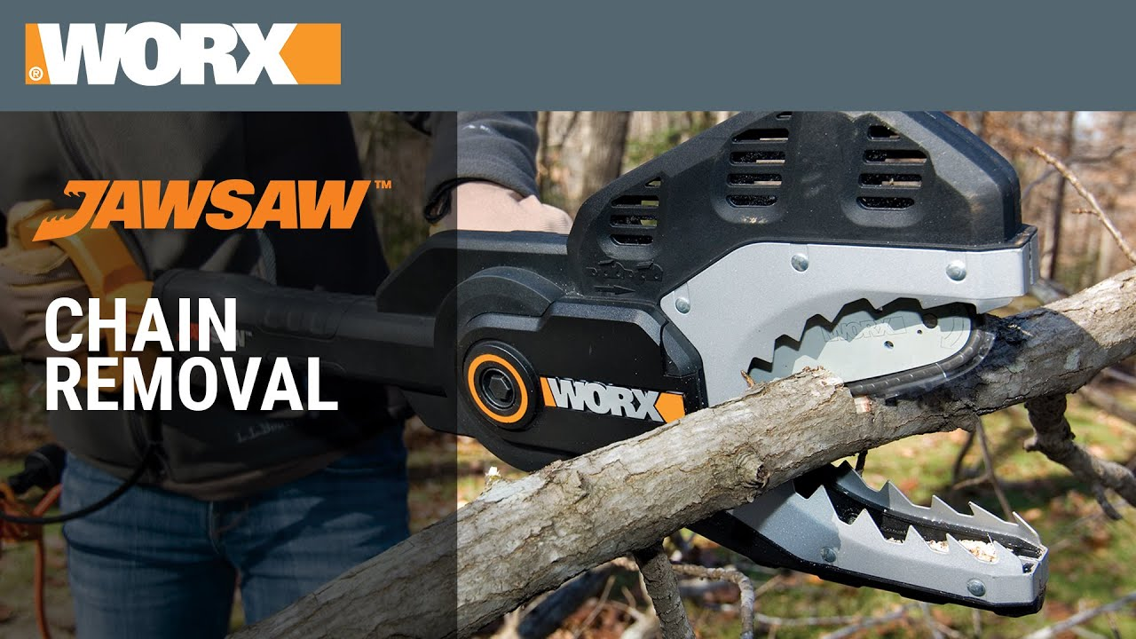 Worx jawsaw chain removal youtube worx jawsaw chain removal greentooth Choice Image