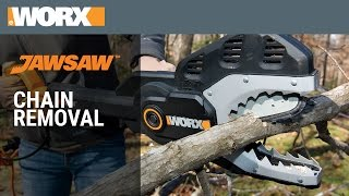 WORX JawSaw Chain Removal