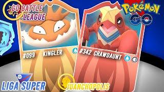 ¡KINGLER LEGACY Y CRAWDAUNT CON SUS MARTILLAZOS LOCOS!-Pokémon Go PvP