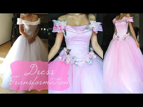 thrifted-dress-transformation,-pink-princess-gown,-diy