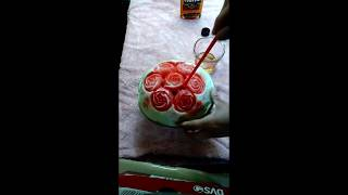 100 proof Southern comfort whiskey  infused watermelon carving
