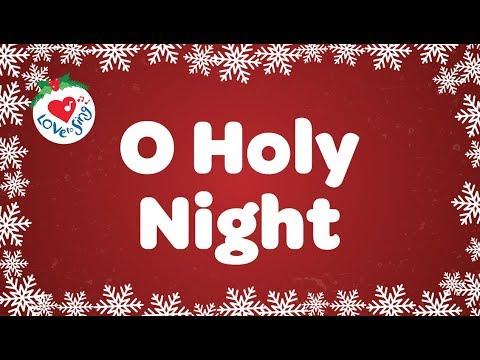 O Holy Night with Lyrics Christmas Carol & Song | Children Love to Sing
