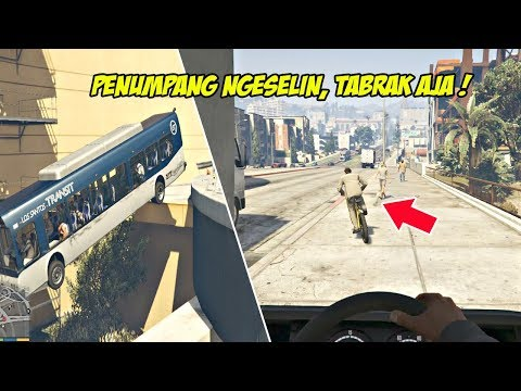 SOPIR BUS AROGAN   GTA 5 MISI 41 : THE BUS ASSASSINATION   PC