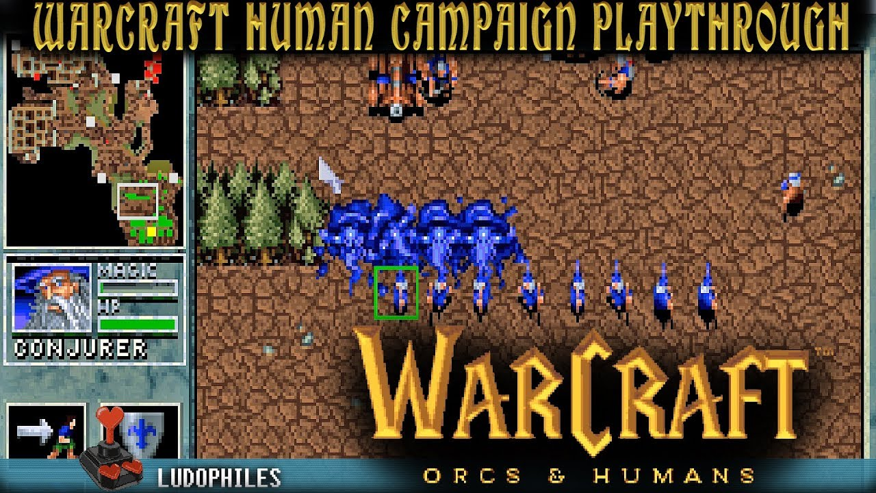Warcraft Orcs Humans Humans Campaign Playthrough Longplay