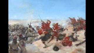 Highlanders with cold steel at Tel-el-Kebir, Egypt, 1882.