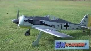 SN Hobbies - Hobbico / Flyzone FW-190 Focke-Wulf Flight Testing