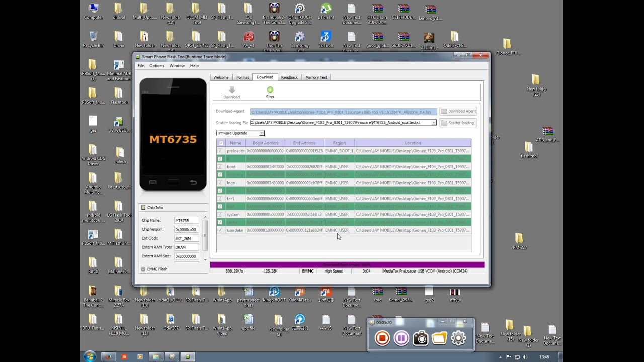 How TO Flash Gionee F103 Pro 1000% done by Smart Phone Help  - YouTube