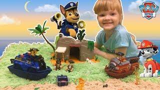 Щенячий патруль игрушки.Пираты. Щенки спасают талисман! Мультик игрушки щенячий патруль Paw Patrol.