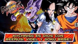 NYChrisG es DIOS CON BEERUS, VIDEL y GOKU BASE!! DRAGON BALL FIGHTERZ: ONLINE