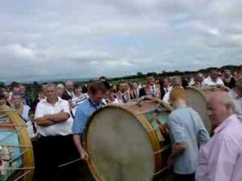 Massed lambeg drums