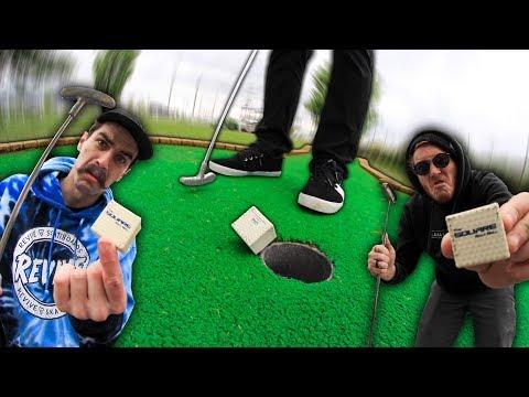 SQUARE GOLF BALL?! | Fun Mini Golf With Friends #8 Part 2