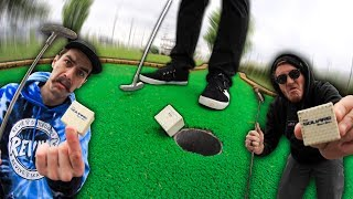 SQUARE GOLF BALL?! | Fun Mini Golf With Friends #8 Part 2