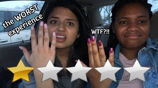 I Went To The WORST reviewed Nail Salon In My City *1 Star*