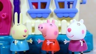 Мультфильм с игрушками Свинка Пепа в гостях у Бабы Яги.