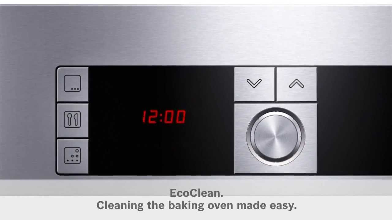 Bosch Hbg655bs1 Bosch Ecoclean Cleaning The Oven Made Easy The Good Guys