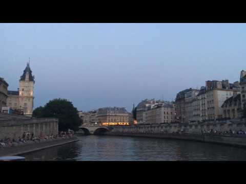 Cruising Down the Seine River in Paris, France