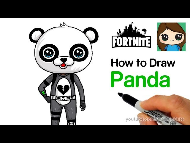 How To Draw Panda Team Leader Easy Fortnite Youtubedownload Pro
