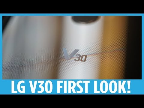 LG V30 First Look  I'M EXCITED!!
