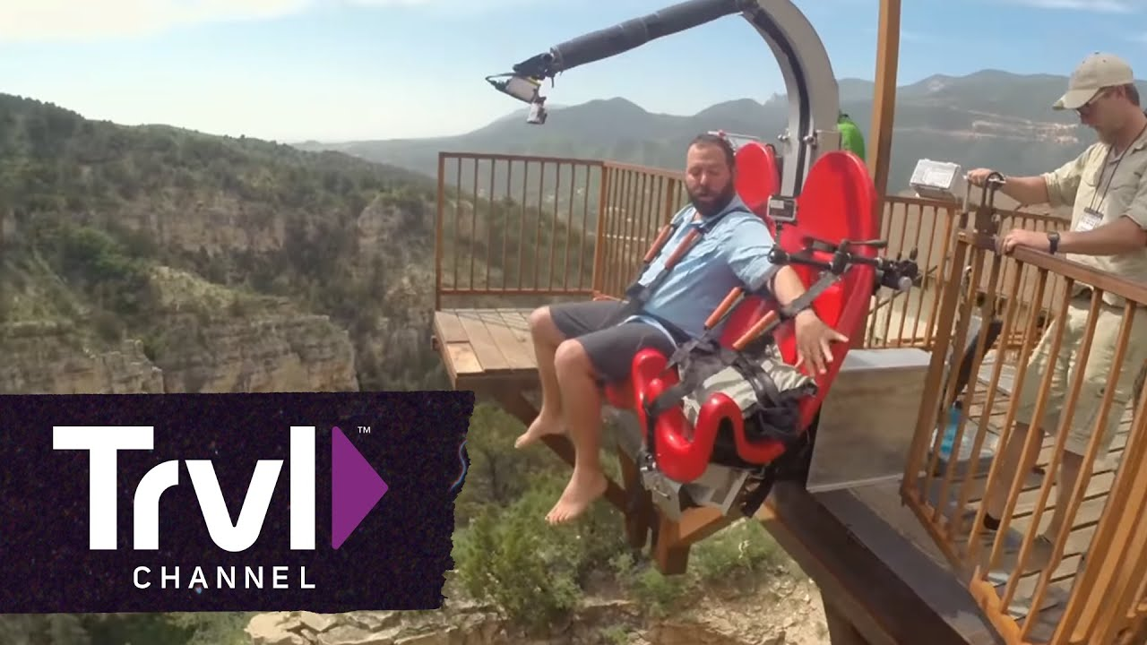 Swing Chair Over Canyon Vibrating Baby Safe Take A Ride On The Terror Dactyl Travel Channel