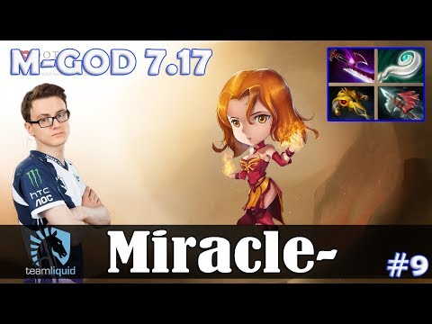 Miracle - Lina MID | M-GOD 7.17 Update Patch | Dota 2 Pro MMR Gameplay #9 thumbnail