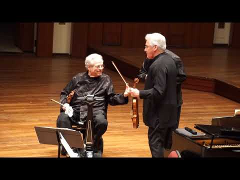 ItzhaItzhak Perlman, Pinchas Zukerman and Rohan De Silva - 05/24/2018 (VERY END)